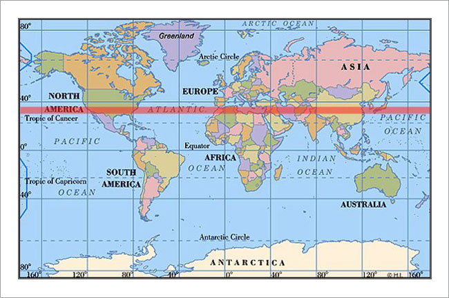 Time Page Xkcd - Us map with latitude lines